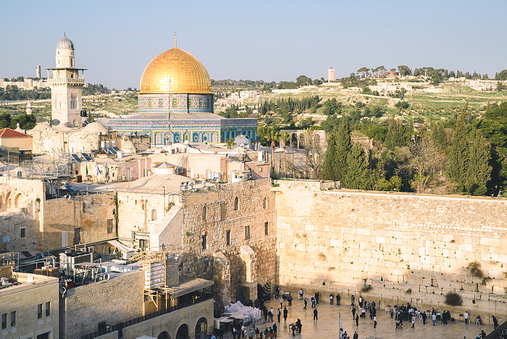 Temple Mount, Dome of the Rock, Redeemer Church and Old Town in Jerusalem, Israel - 1243-69