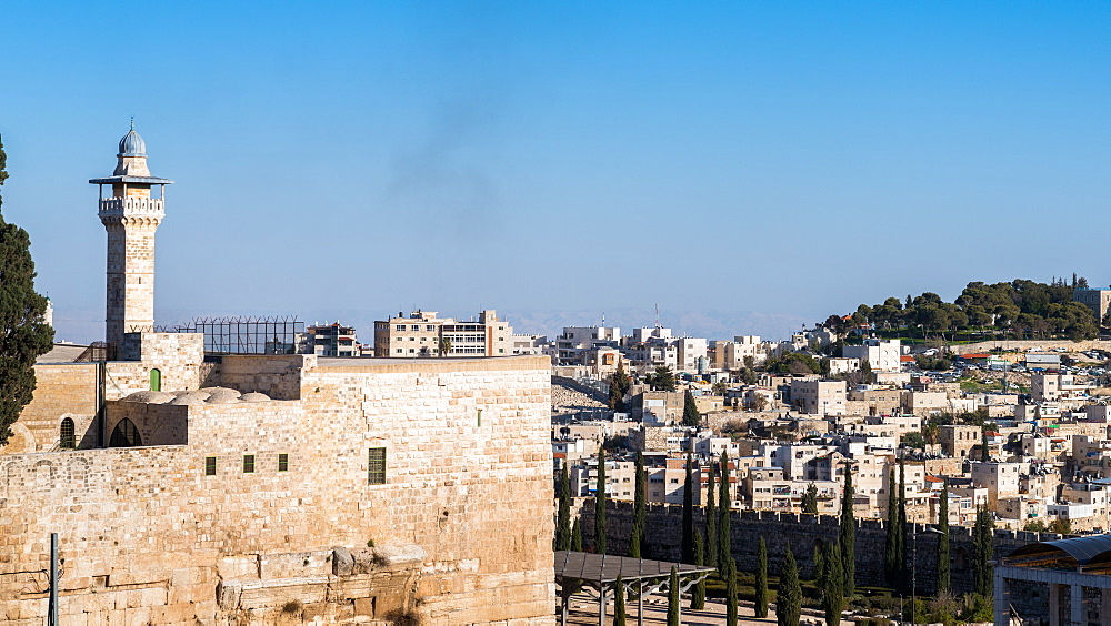 View from Old City of Jerusalem into the outskirts, Jerusalem, Israel, Middle East