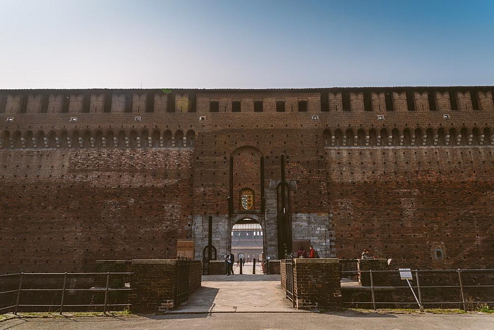 Sforza Castle, Milan, Lombardy, Italy, Europe - 1243-78
