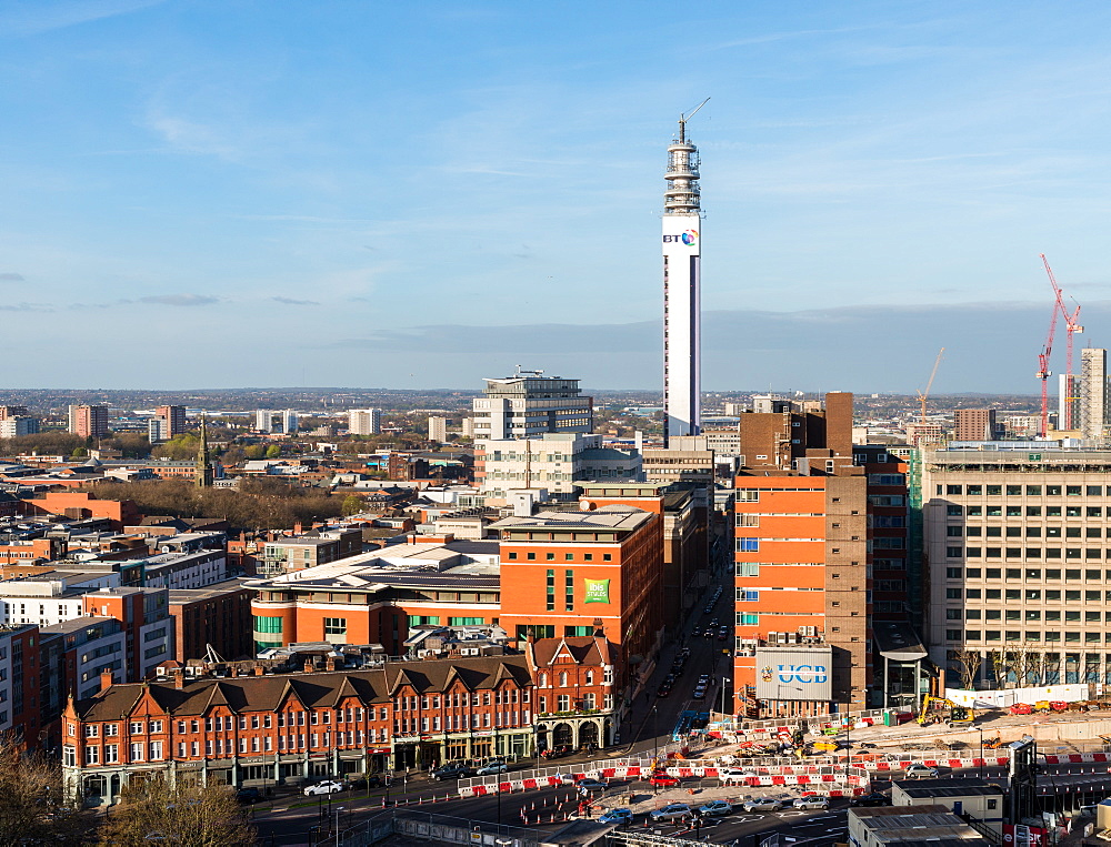 Panorama of Birmingham, England, which is the second biggest city in the country after London