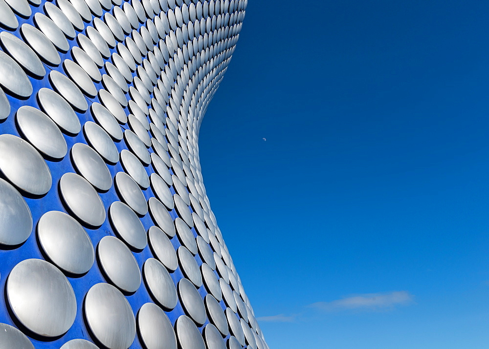 The Selfridges Building in the Bullring, covered in 15000 shiny aluminium discs, Birmingham, England, United Kingdom, Europe