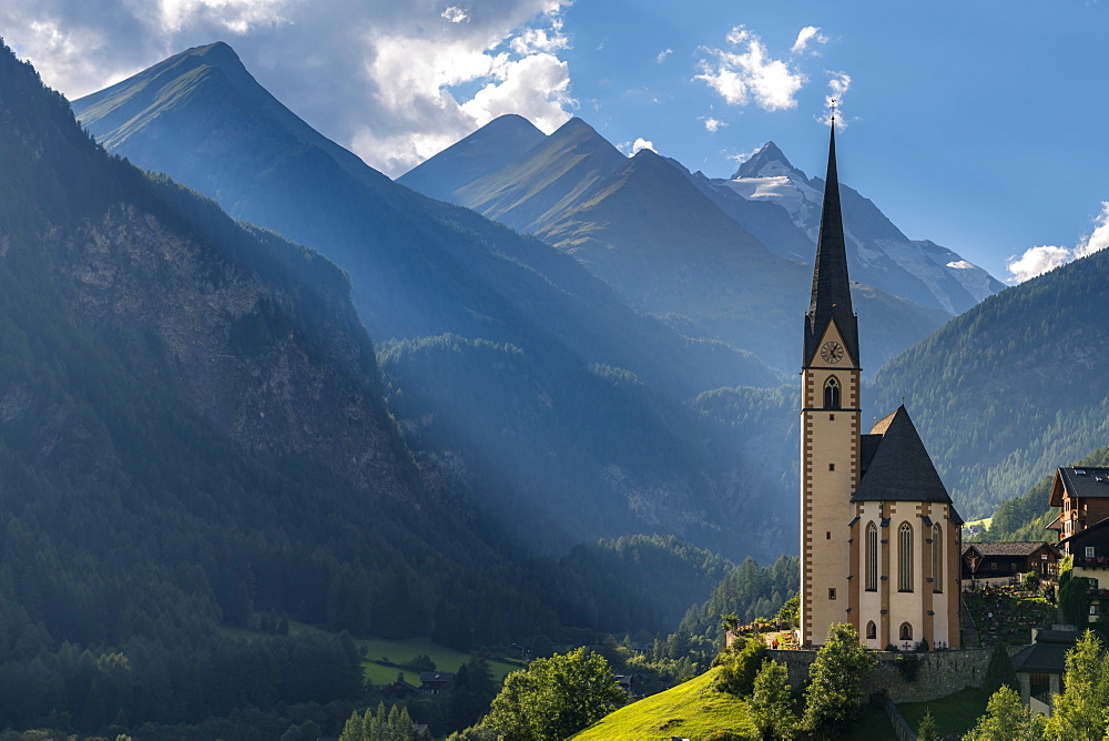 St. Vincent Church in Heiligenblut at the highroad Grossglockner, Hohe Tauern, Carinthia, Austria - 1244-1