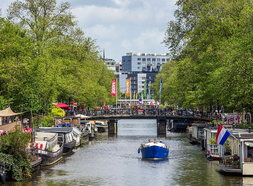 Prinsengracht Canal, Amsterdam, North Holland, The Netherlands, Europe - 1245-1008