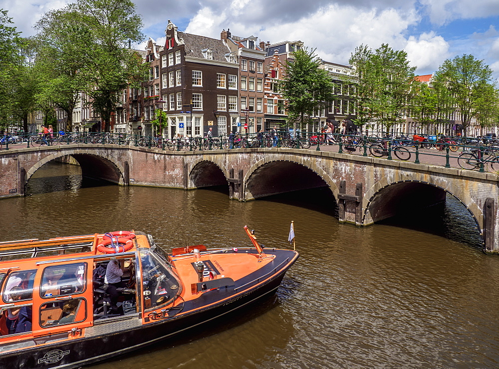 Keizersgracht and Leliegrach Canals and Bridges, Amsterdam, North Holland, The Netherlands, Europe - 1245-1010