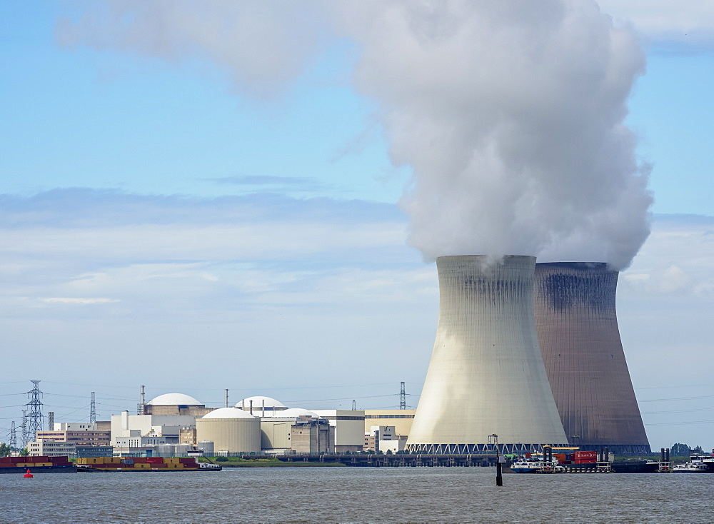 Nuclear Power Plant in Antwerp, Belgium, Europe