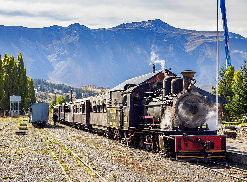 Old Patagonian Express La Trochita, steam train, Esquel Train Station, Chubut Province, Patagonia, Argentina, South America - 1245-1130