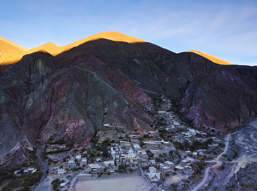 Elevated view of Iruya, Salta Province, Argentina, South America