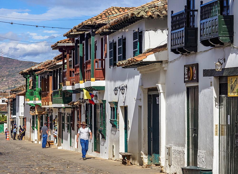 Street of Villa de Leyva, Boyaca Department, Colombia, South America