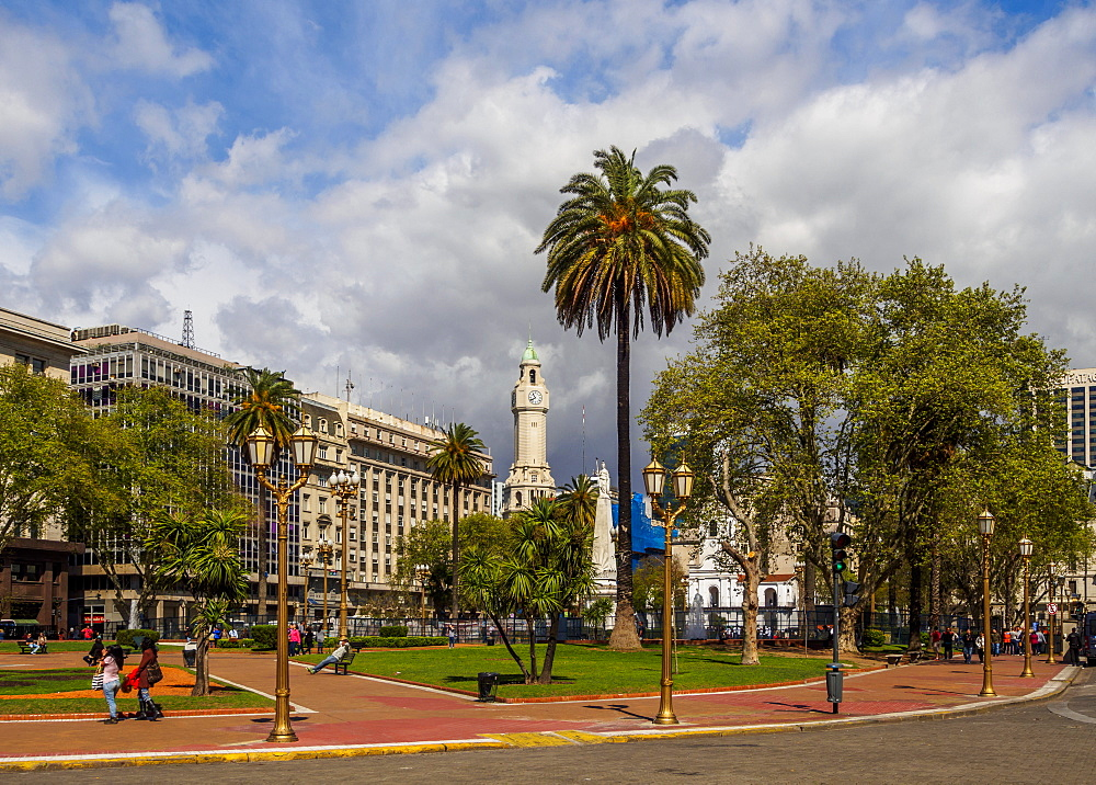 View of the Plaza de Mayo, Monserrat, City of Buenos Aires, Buenos Aires Province, Argentina, South America