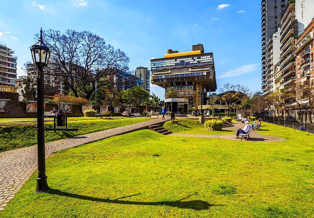 View of the National Library of the Argentine Republic, Recoleta, City of Buenos Aires, Buenos Aires Province, Argentina, South America
