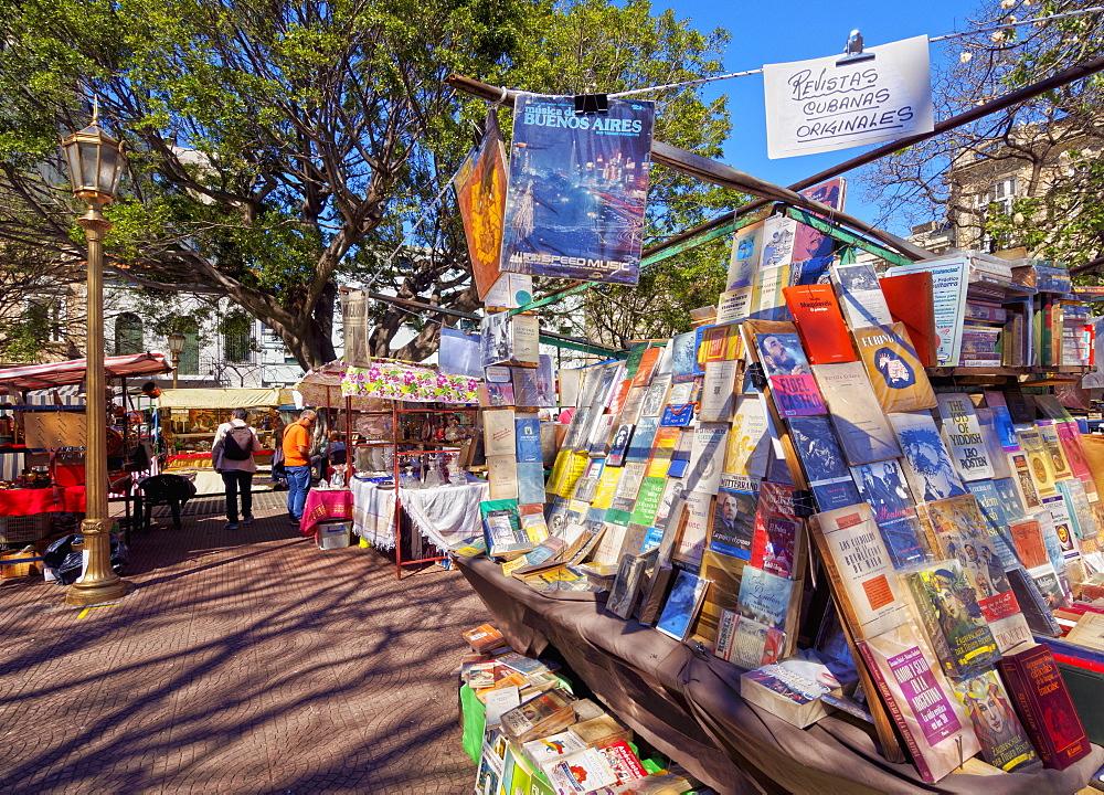 Plaza Dorrego, Antique Fair Feria de San Telmo, San Telmo, City of Buenos Aires, Buenos Aires Province, Argentina, South America