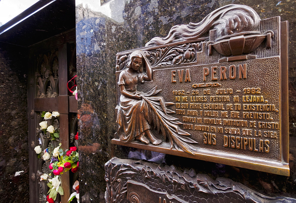 The Eva Peron grave in the Recoleta Cemetery, Buenos Aires, Buenos Aires Province, Argentina, South America