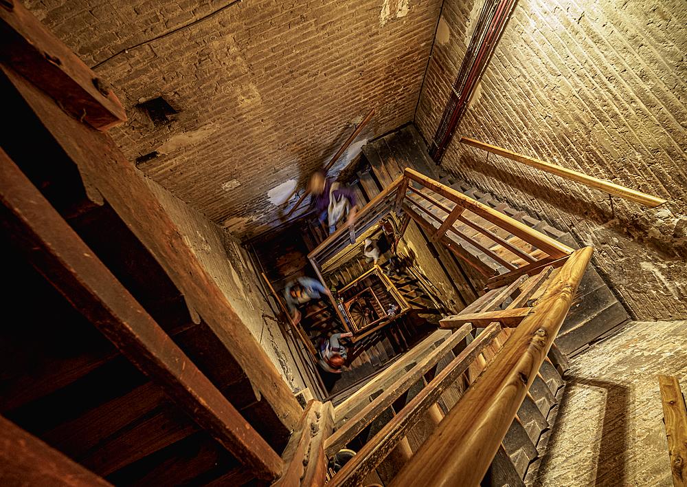 Asinelli Tower, interior, Bologna, Emilia-Romagna, Italy, Europe