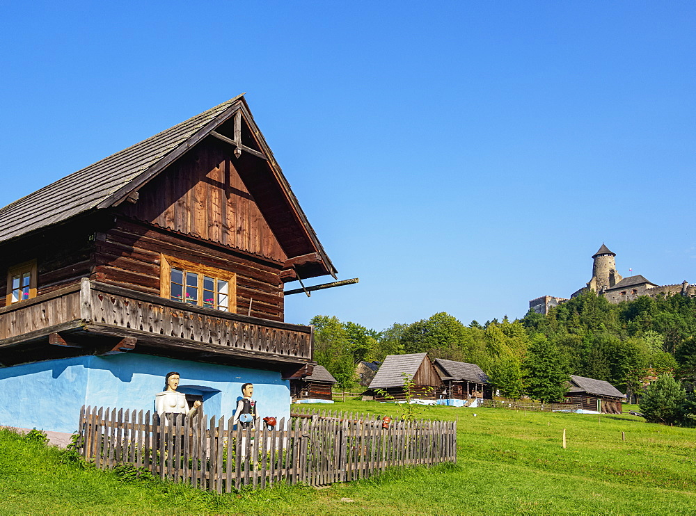 Huts in Open Air Museum at Stara Lubovna, Presov Region, Slovakia, Europe