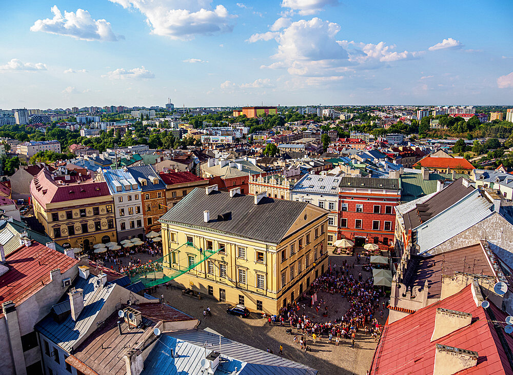 Old Town Market Square, elevated view, Lublin, Lublin Voivodeship, Poland - 1245-1774