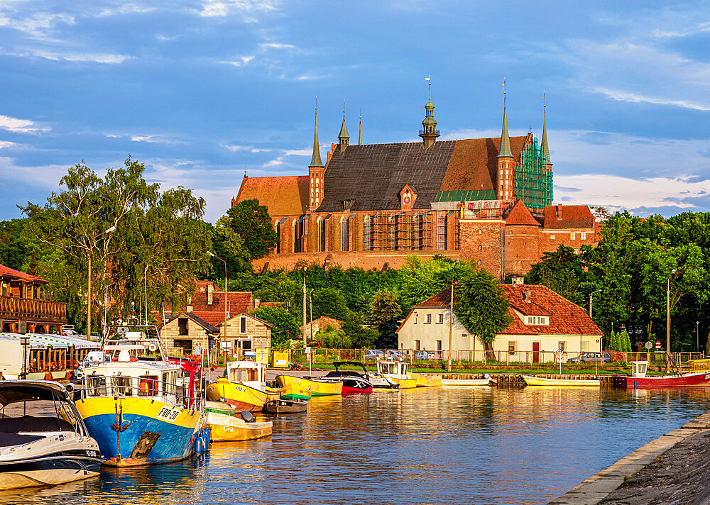 Small port in Frombork, Warmian-Masurian Voivodeship, Poland