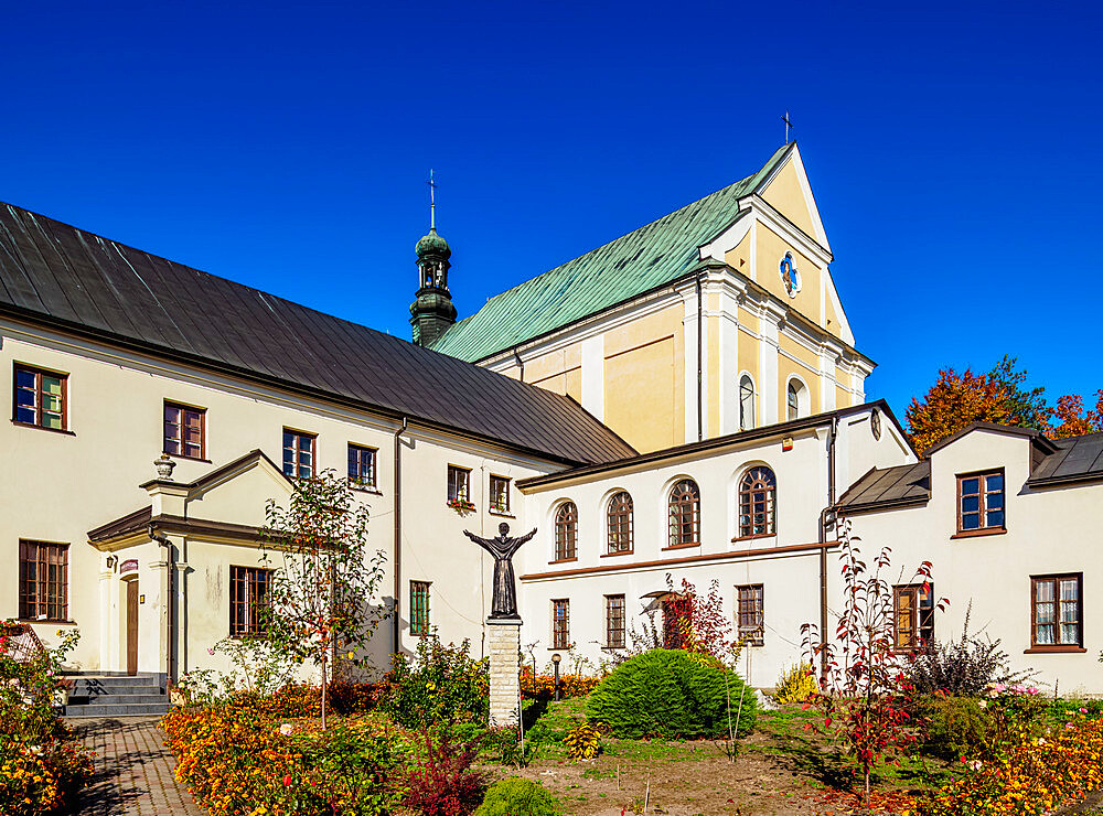 Church and Monastery in Pilica, Krakow-Czestochowa Upland or Polish Jurassic Highland, Silesian Voivodeship, Poland