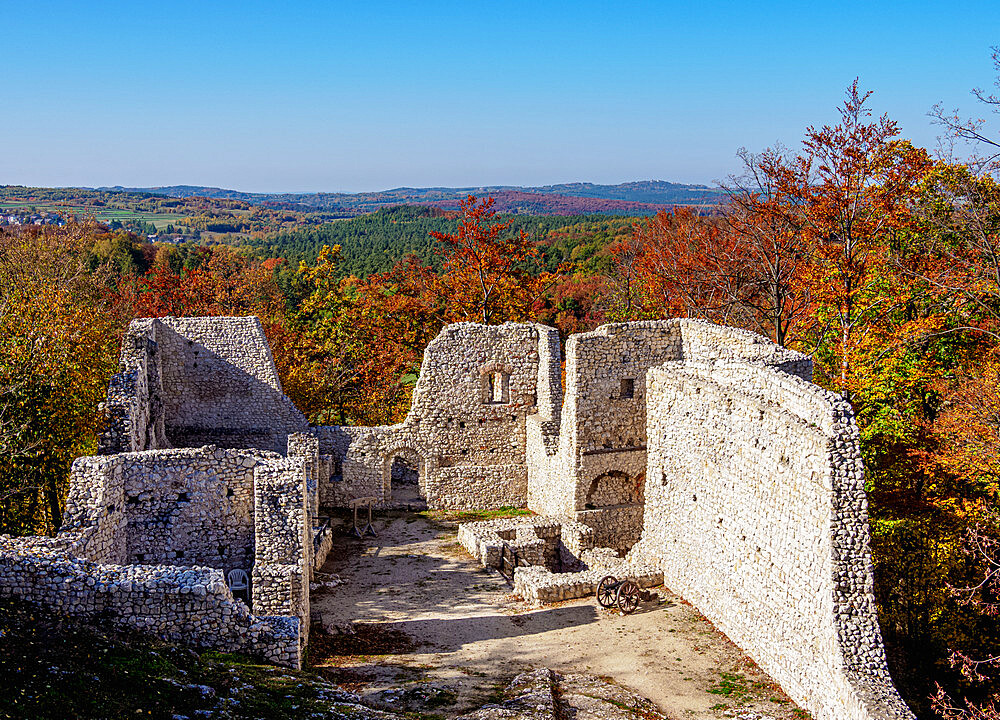 Pilcza Castle Ruins, Smolen, Trail of the Eagles' Nests, Krakow-Czestochowa Upland or Polish Jura, Silesian Voivodeship, Poland