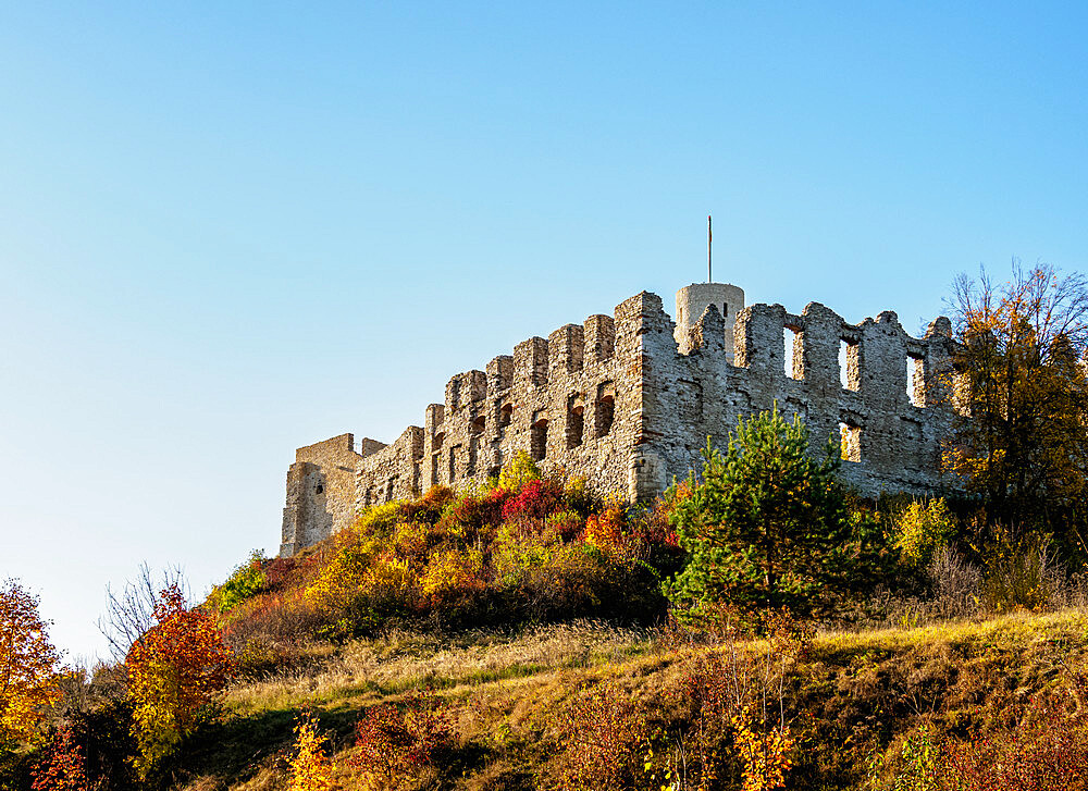 Rabsztyn Castle Ruins, Trail of the Eagles' Nests, Krakow-Czestochowa Upland or Polish Jura, Lesser Poland Voivodeship, Poland