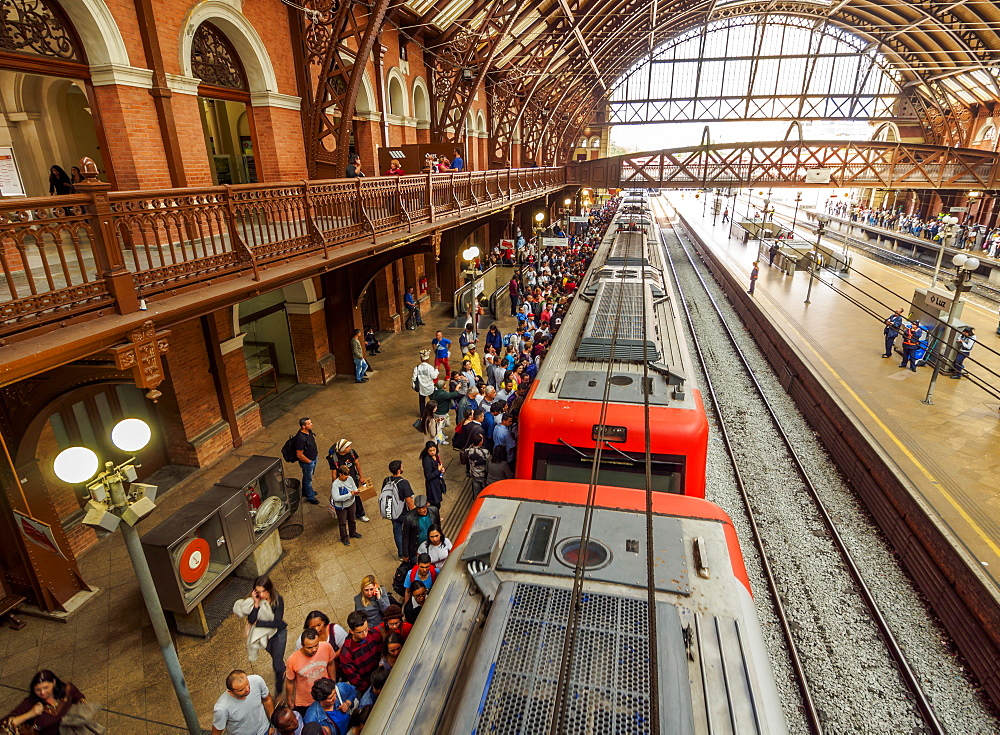 Interior view of the Luz Station, City of Sao Paulo, State of Sao Paulo, Brazil, South America