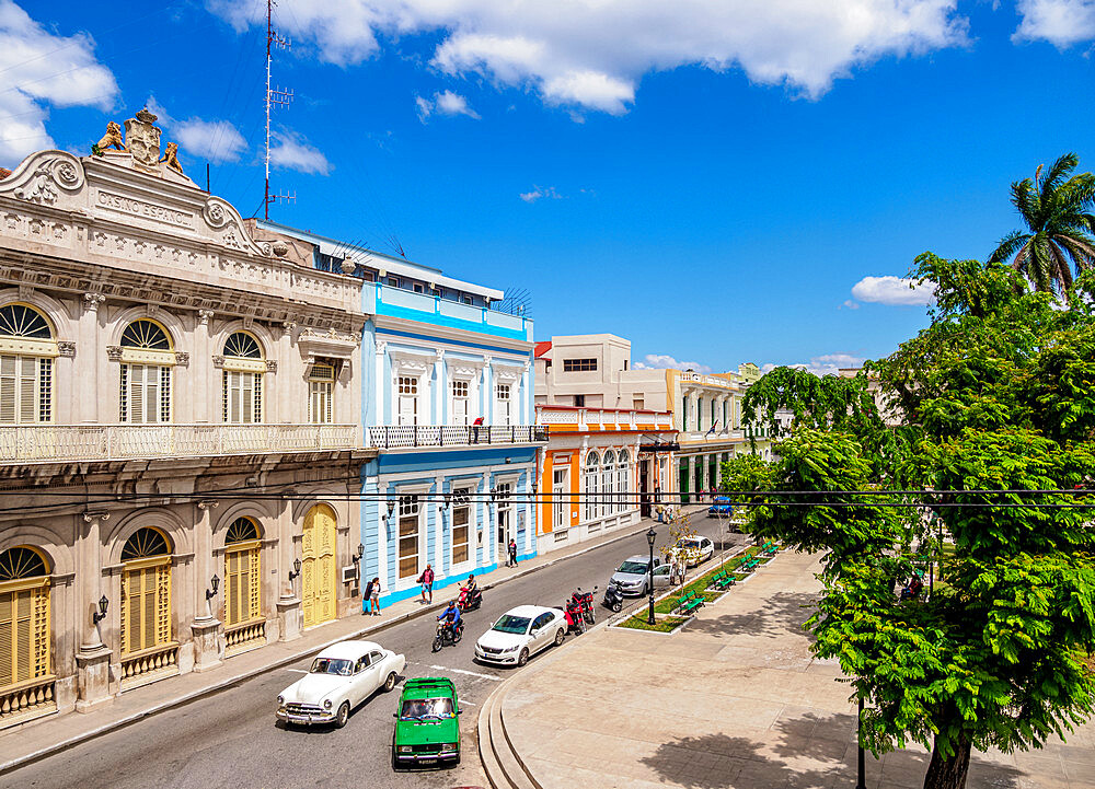Casino Espanol and Libertad Square, elevated view, Matanzas, Matanzas Province, Cuba, West Indies, Caribbean, Central America