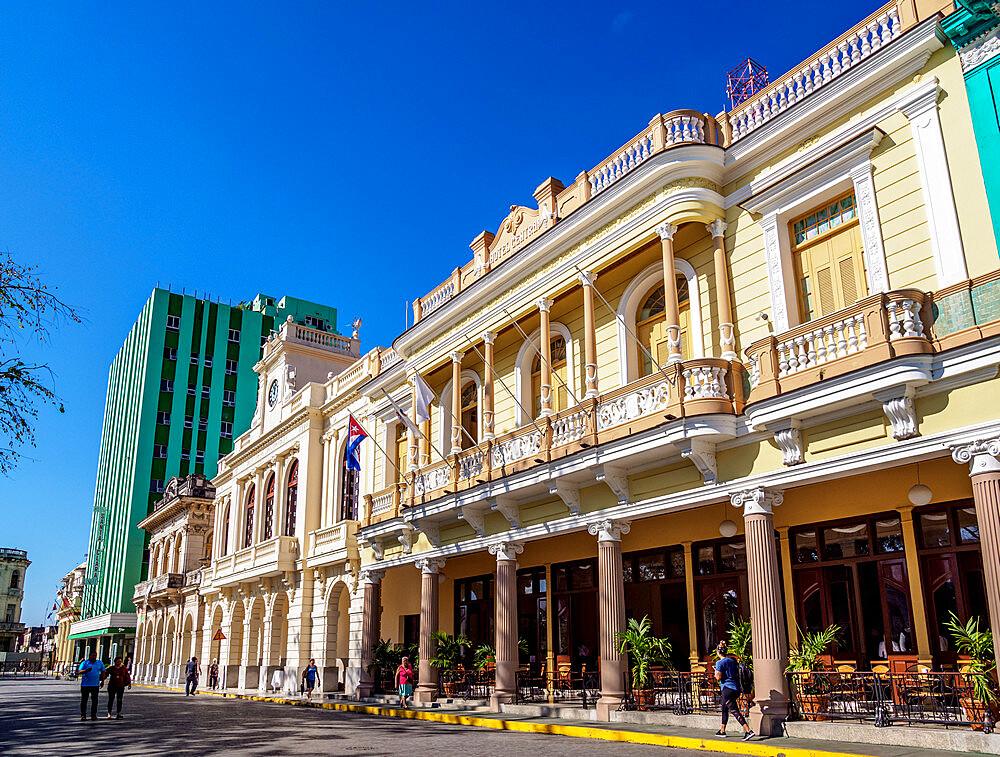 Architecture at Parque Vidal, Santa Clara, Villa Clara Province, Cuba, West Indies, Caribbean, Central America - 1245-1889