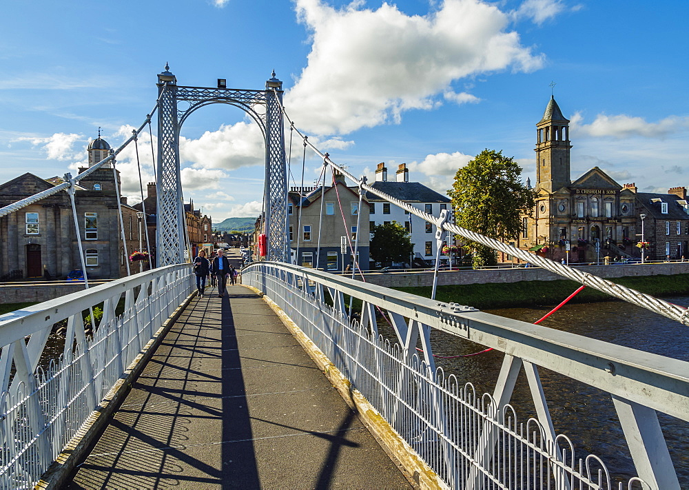 View of the Greig Street Bridge, Inverness, Highlands, Scotland, United Kingdom, Europe