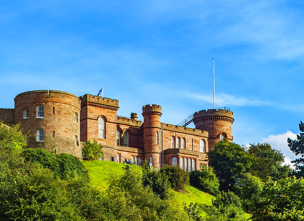 View of Inverness Castle, Inverness, Highlands, Scotland, United Kingdom, Europe
