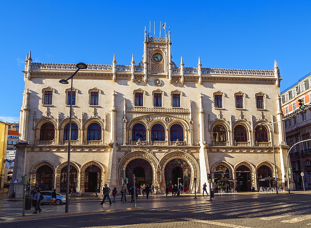 Rossio Train Station, Lisbon, Portugal, Europe