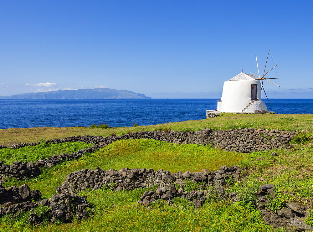 Traditional windmill, Vila do Corvo, Corvo, Azores, Portugal, Atlantic, Europe