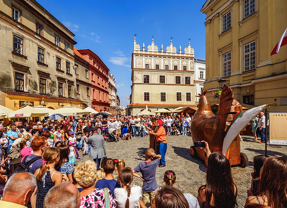 Copper Hen during the Jagiellonian Fair, Old Town, City of Lublin, Lublin Voivodeship, Poland, Europe