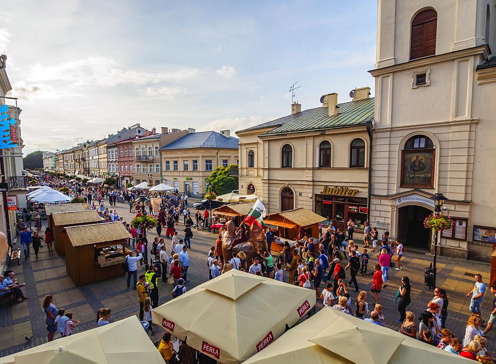 Krakowskie Przedmiescie Street, Jagiellonian Fair, City of Lublin, Lublin Voivodeship, Poland, Europe