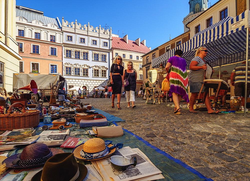 Flea Market on the Market Square, Old Town, Lublin, Lublin Voivodeship, Poland, Europe