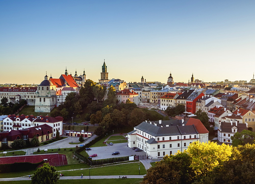 Poland, Lublin Voivodeship, City of Lublin, Old Town Skyline