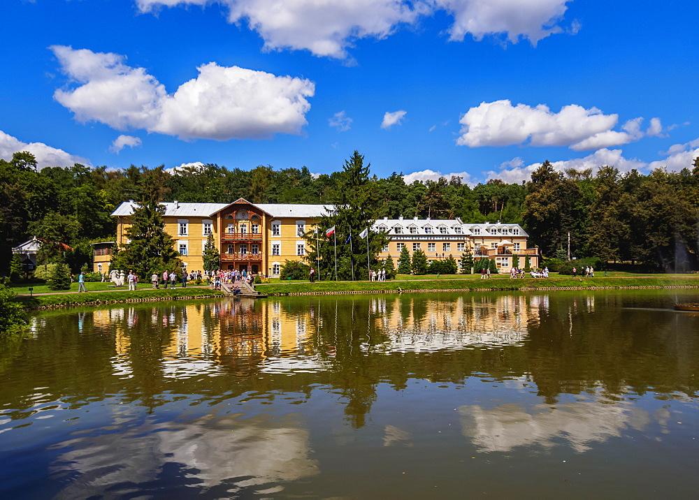 Poland, Lublin Voivodeship, Naleczow Spa Town, Park and Sanatorium Ksiaze Jozef