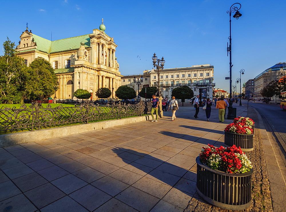 Poland, Masovian Voivodeship, Warsaw, Krakowskie Przedmiescie Street, Carmelite Church
