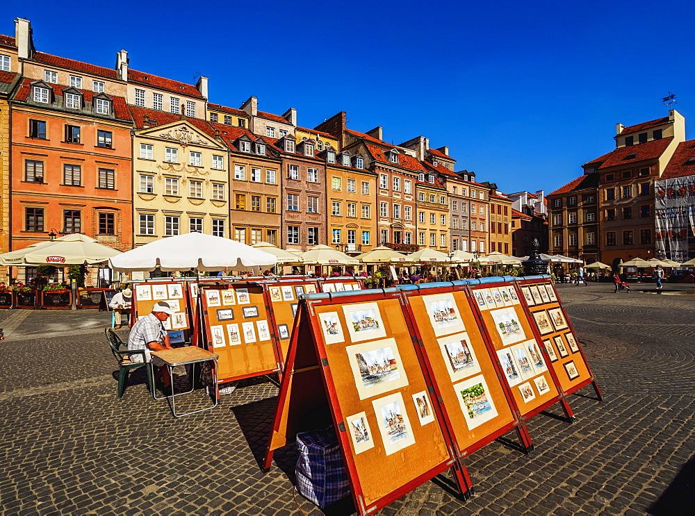 Old Town Market Place, Warsaw, Masovian Voivodeship, Poland, Europe