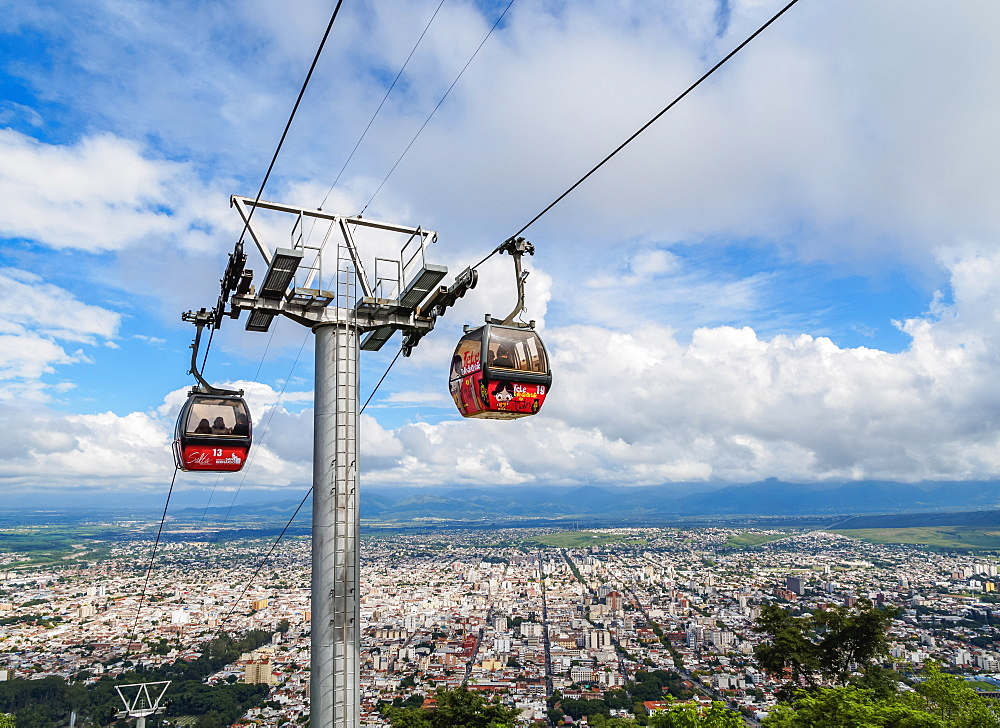 San Bernardo Hill Cable Car, Salta, Argentina