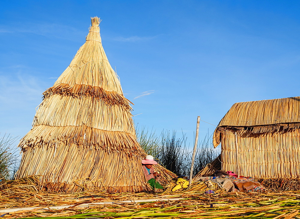 Uros Floating Island, Lake Titicaca, Puno Region, Peru, South America