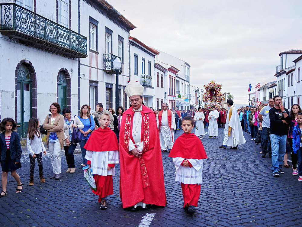Holy Christ Procession, Vila do Porto, Santa Maria Island, Azores, Portugal, Atlantic, Europe