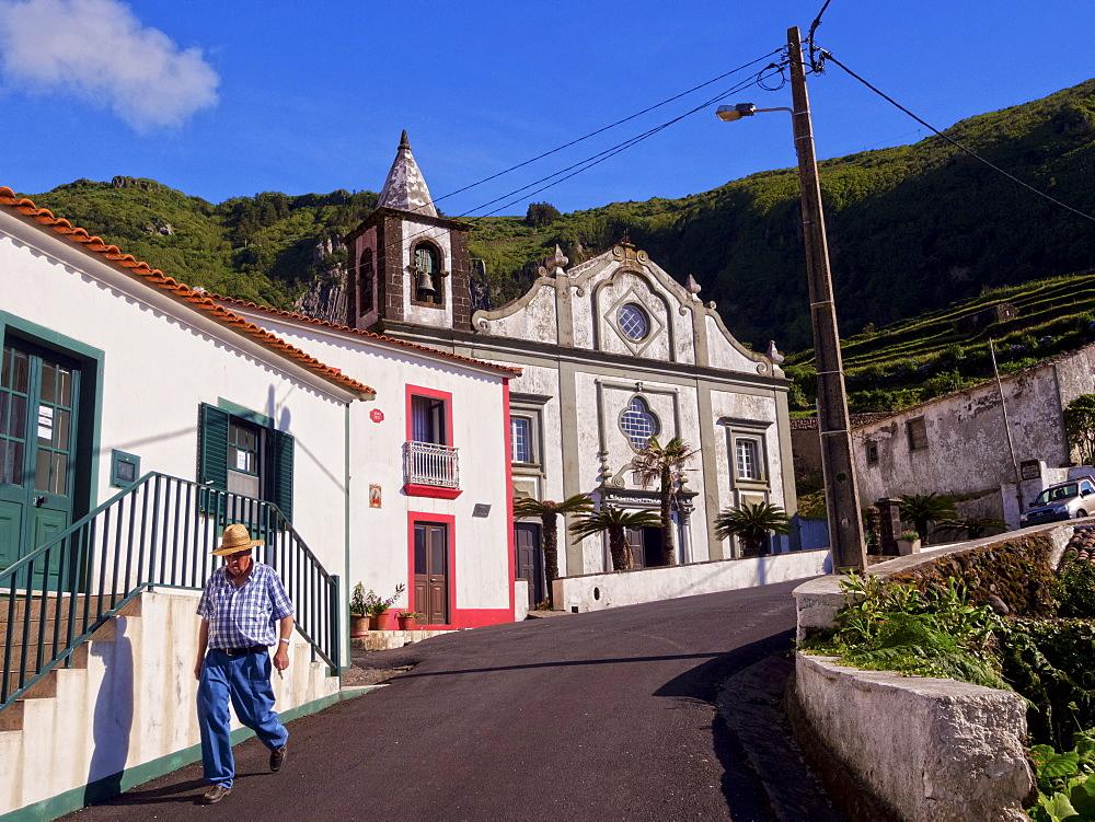 Church in Fajazinha, Flores Island, Azores, Portugal, Atlantic, Europe