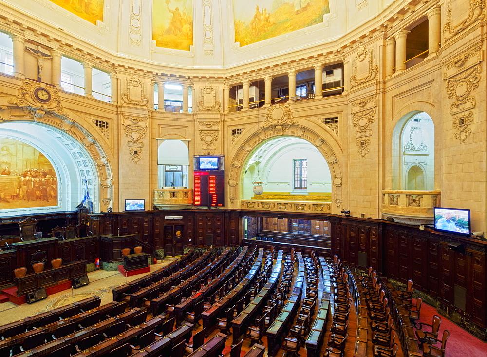 Interior view of the Palacio Tiradentes, Rio de Janeiro, Brazil, South America