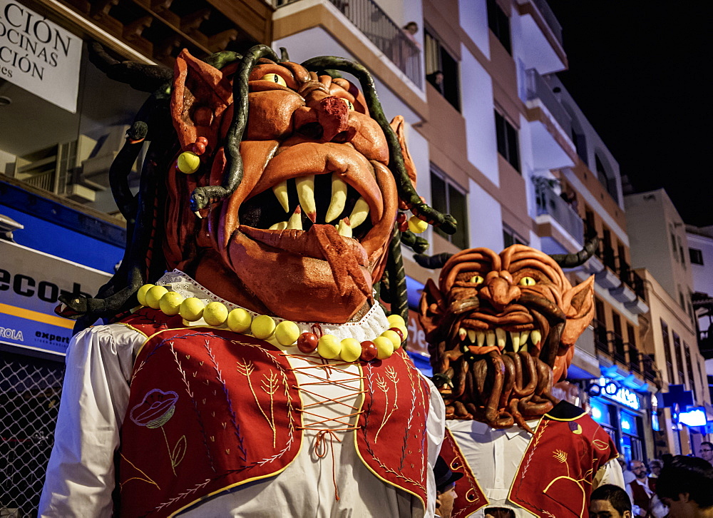 Baile de Magos, traditional street party, Icod de los Vinos, Tenerife Island, Canary Islands, Spain, Europe