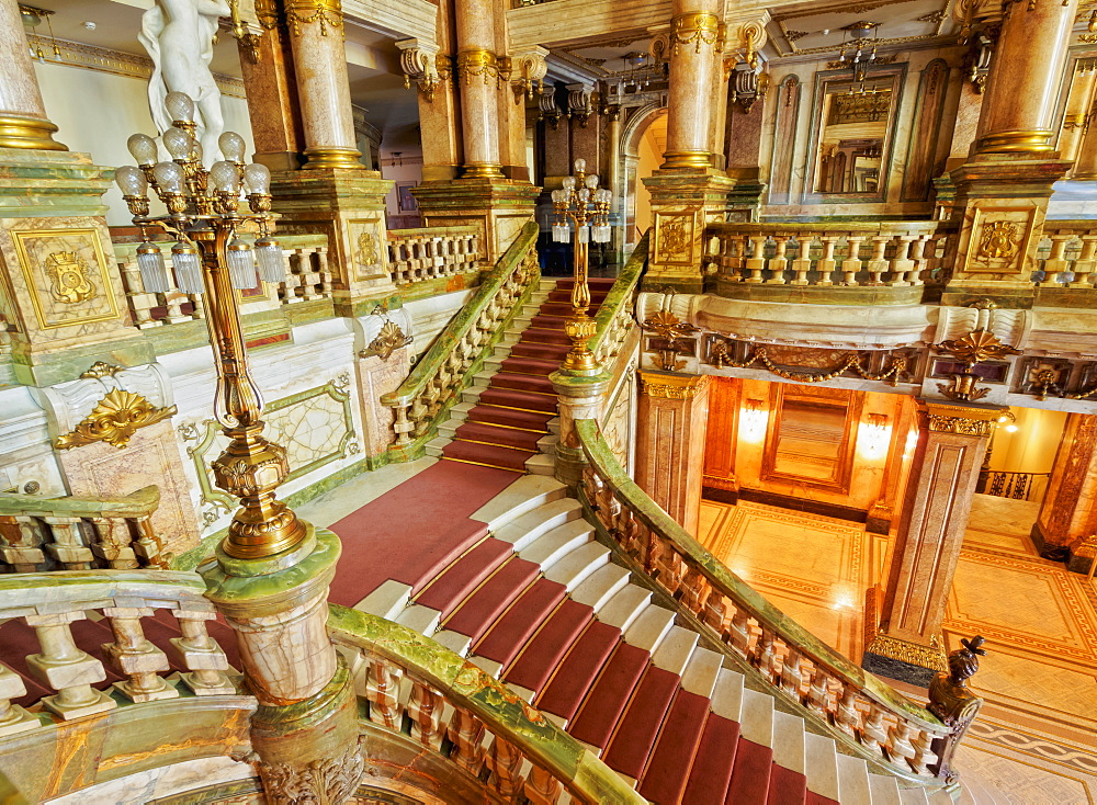 Interior view of the Theatro Municipal, Rio de Janeiro, Brazil, South America - 1245-91