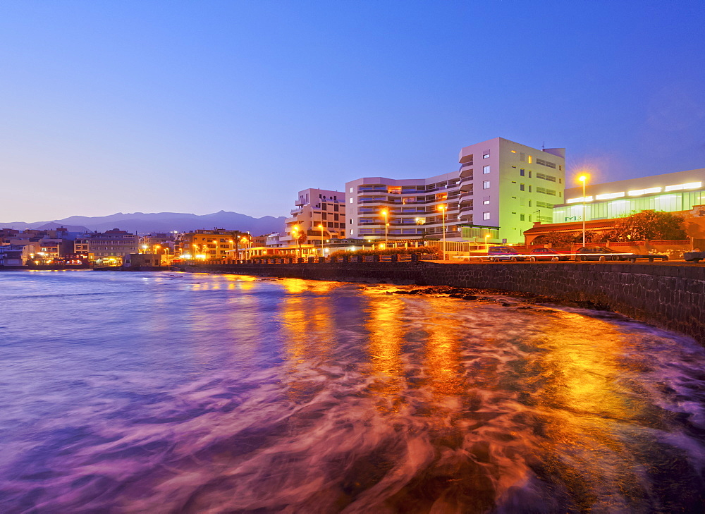 El Medano at twilight, Tenerife Island, Canary Islands, Spain, Atlantic, Europe