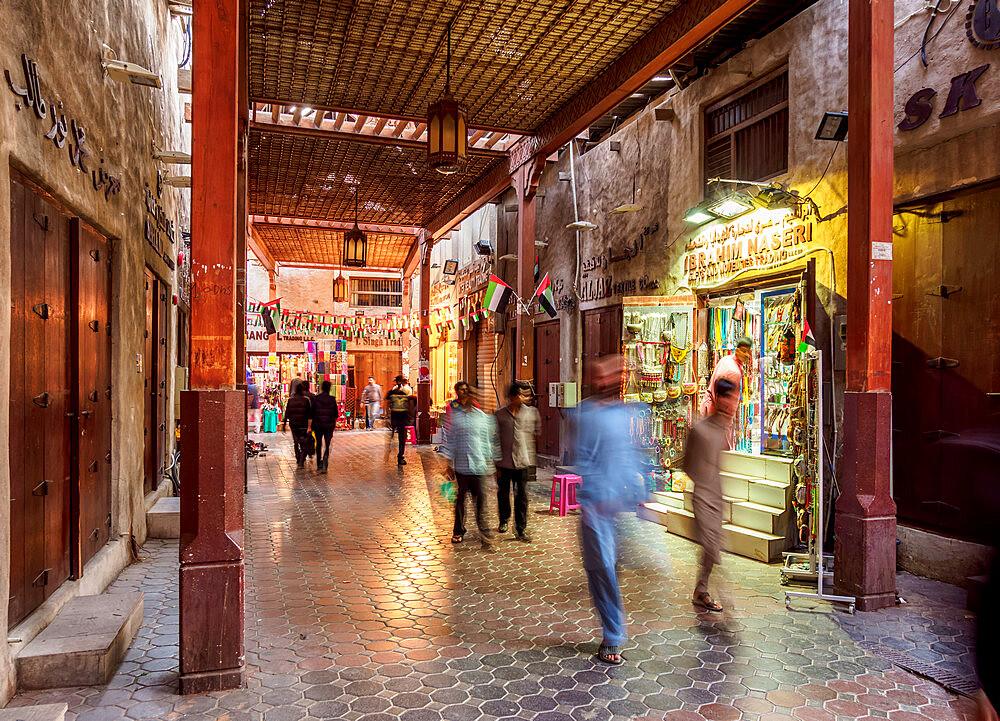 Bur Dubai Old Souk, Dubai, United Arab Emirates, Middle East - 1245-967