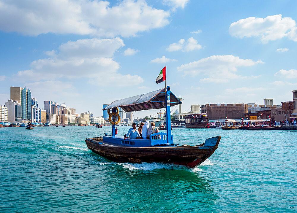 Abra Boat on Dubai Creek, Dubai, United Arab Emirates, Middle East - 1245-968