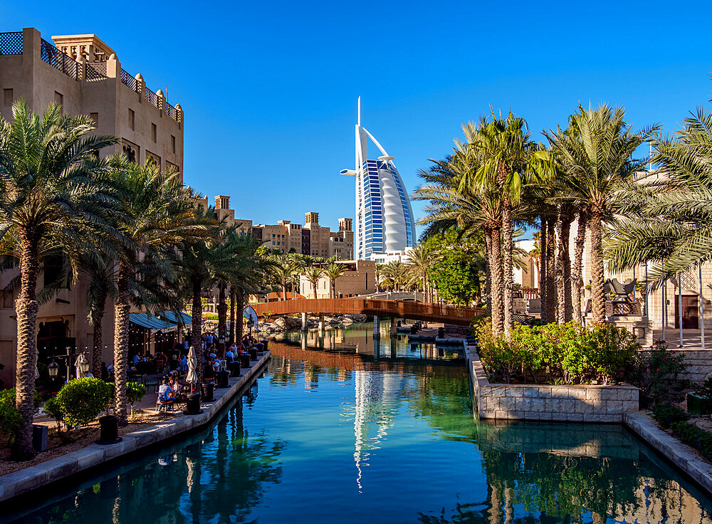 Medinat Jumeirah and Burj Al Arab Luxury Hotel, Dubai, United Arab Emirates, Middle East