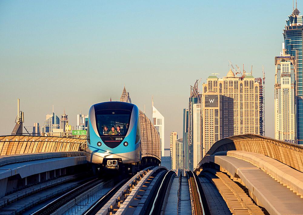Dubai Metro, Dubai, United Arab Emirates, Middle East - 1245-987
