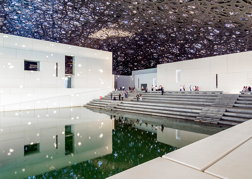 Louvre Museum, interior, Abu Dhabi, United Arab Emirates, Middle East